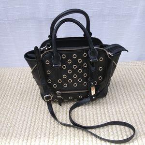 Nine West Black Grommet Shoulder Bag